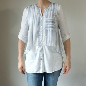 Anthropologie MEADOW RUE layered top Size S